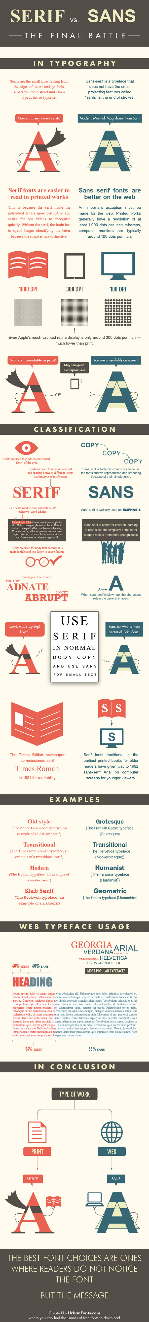 serif vs sans serif1 Serif vs Sans: The Final Battle In Typography [Infographic]