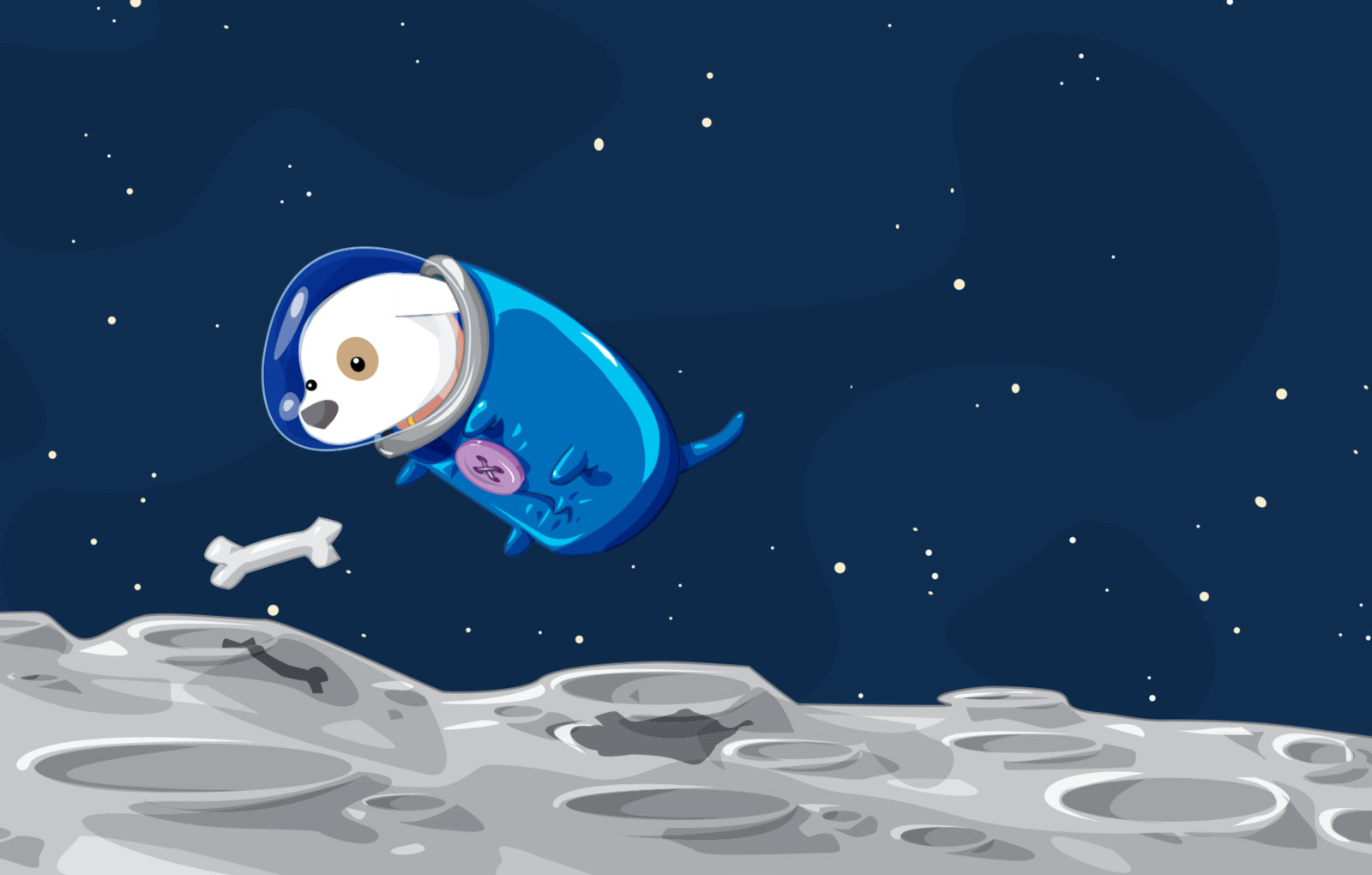 space doggy 30 Illusive Illustrations from David Lanham