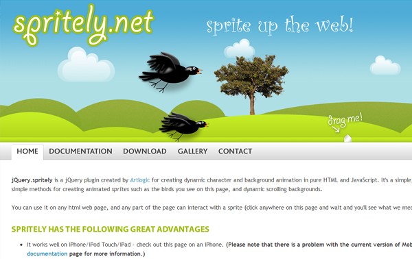 spritely 5 Best jQuery Plugins for Parallax Scrolling