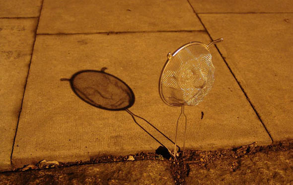 strainer shadow faces made from colanders isaac cordal 411 30 Mighty Optical Illusions and Brain Teasers