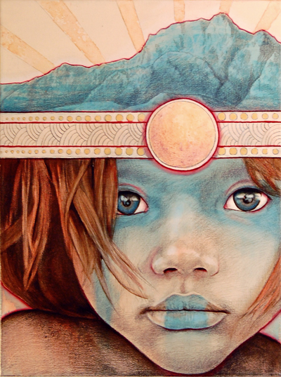 sun child 20 Marvelous Paintings from Michael Shapcott