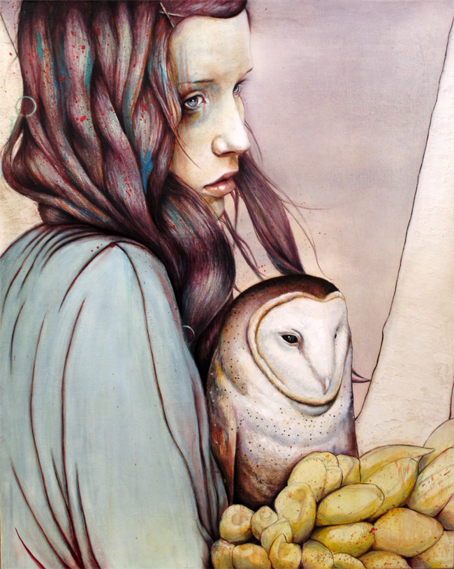 the girl and the owl 20 Marvelous Paintings from Michael Shapcott
