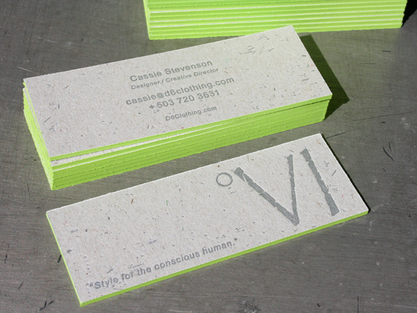 0002 degree six letterpress business cards1 33 Classy Thick Edge Business Cards