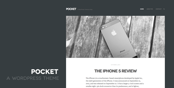 01 pocket large preview1 25 Excellent Personal WordPress Themes