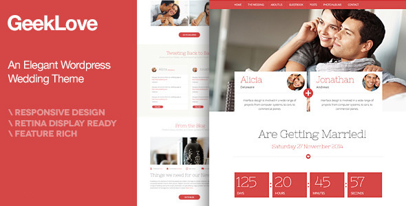 01 main preview   large preview1 Top 15 Premium Wordpress Themes for a Wedding