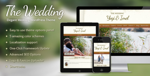 01 preview   large preview13 Top 15 Premium Wordpress Themes for a Wedding