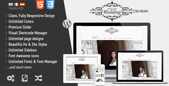 01 preview   large preview14 Top 15 Premium Wordpress Themes for a Wedding