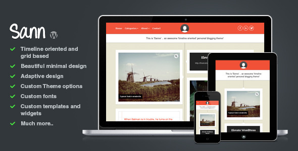 01 preview large preview3 25 Excellent Personal WordPress Themes