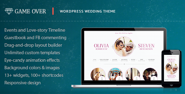 01 themeforest   large preview1 Top 15 Premium Wordpress Themes for a Wedding