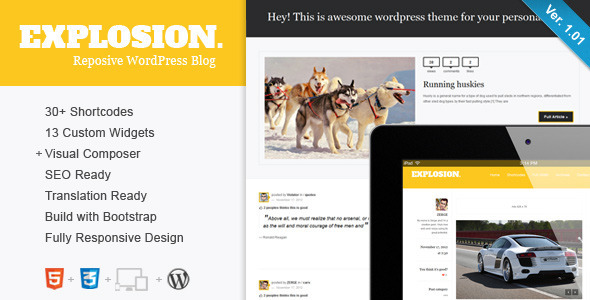 01 title large preview11 25 Excellent Personal WordPress Themes