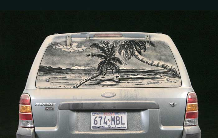 075 escape b1 20 Dirty Car Artworks by Scott Wade