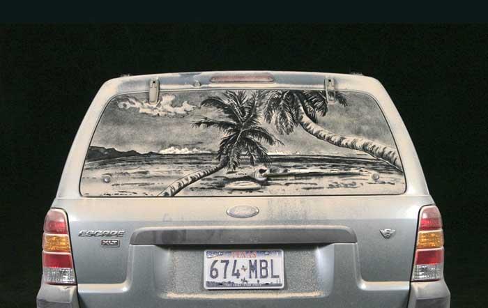 075 escape b1 20 Dirty Car Artworks by Scott Wade