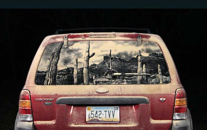 076 escape d1 20 Dirty Car Artworks by Scott Wade