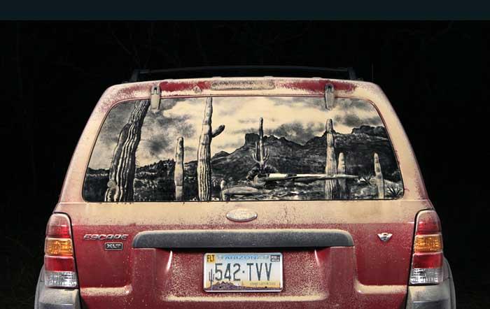 076 escape d1 20 Dirty Car Artworks by Scott Wade