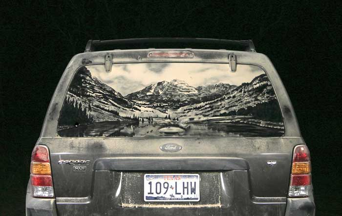 077 escape m1 20 Dirty Car Artworks by Scott Wade