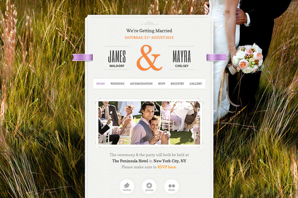 1 f1 Top 15 Premium Wordpress Themes for a Wedding
