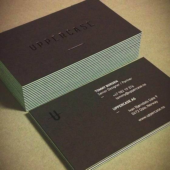 Uppercase business cards