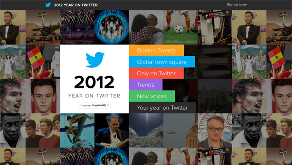 2012 year on twitter11 35 Nice Examples of Flat Web Design