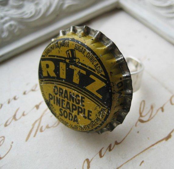 Vintage Ritz Bottle Cap RING