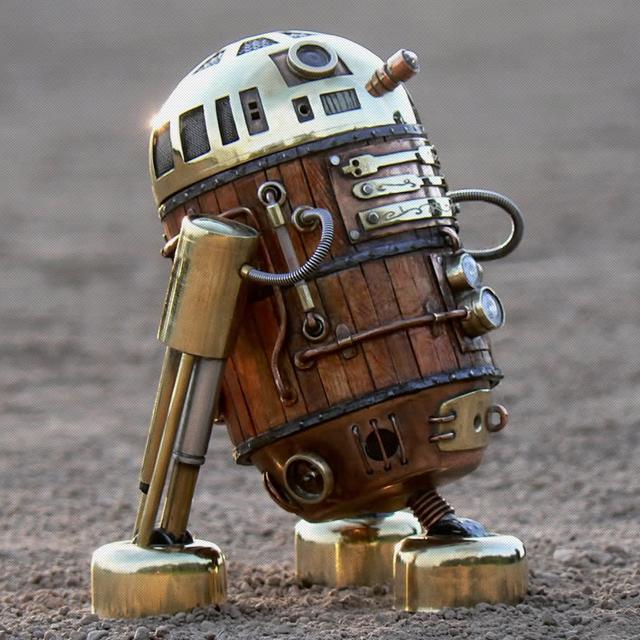 Steampunk R2D2 Robot