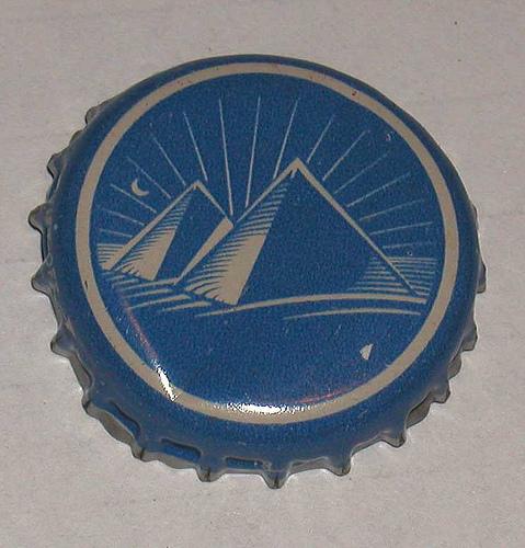 pyramid bottle cap blue