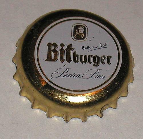 bitburger bottle cap