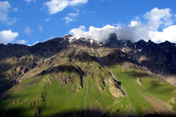 Mountains in Kazbegi
