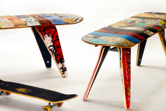 Deckbench Recycled Skateboard Bench