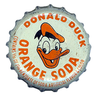 Donald Duck Orange Soda Bottle Cap