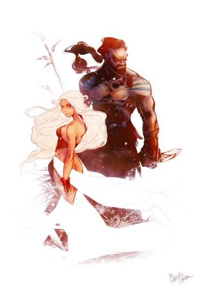 Daenerys and Drogo by Mikuloctopus