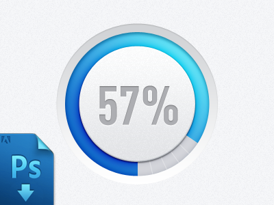 Progress bar(PSD freebie) by Virgil Pana