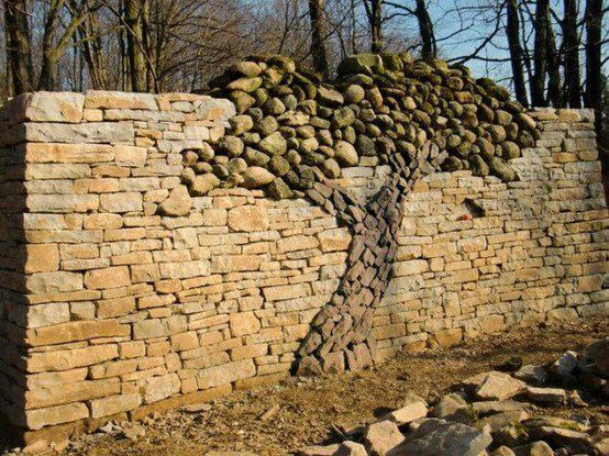 Handmade stone tree