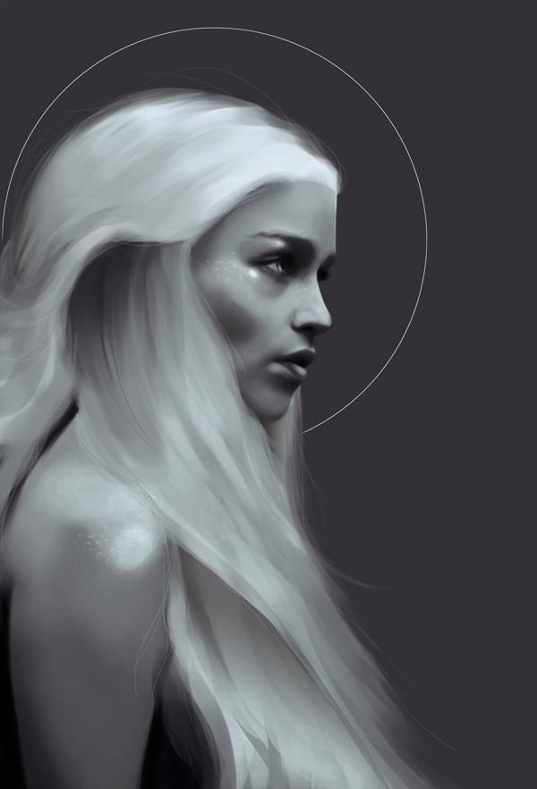 4b0bba500cdbda7d497cfbcd0ed4b2f01 30 Gorgeous Game of Thrones Fan Art Works