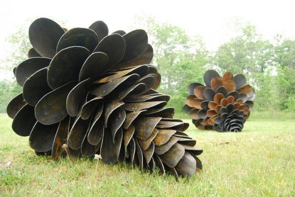 Giant pinecones from old shovels