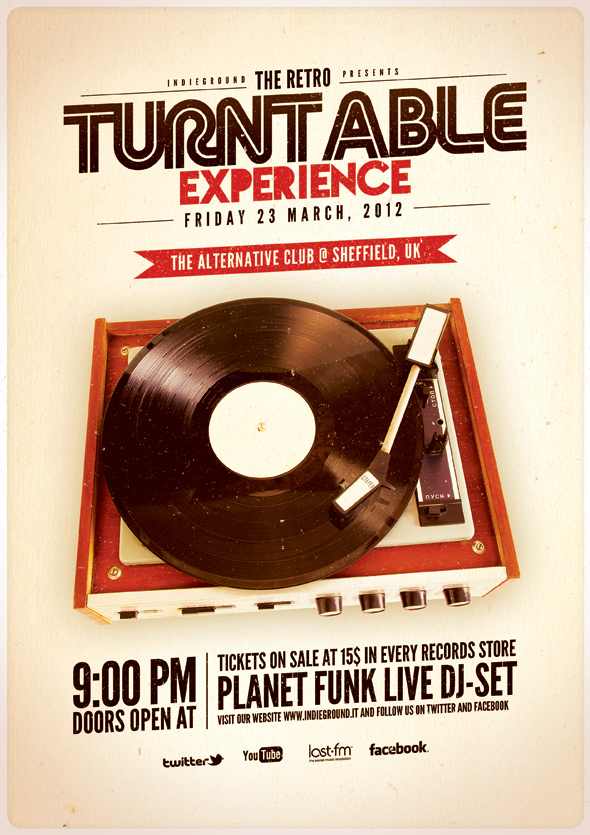 Retro Turntable Experience