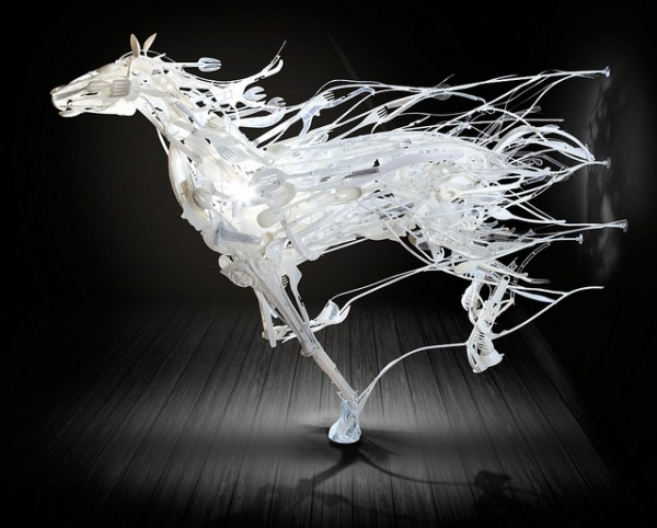 Recycled Plastic Sculpture by Sayaka Ganz