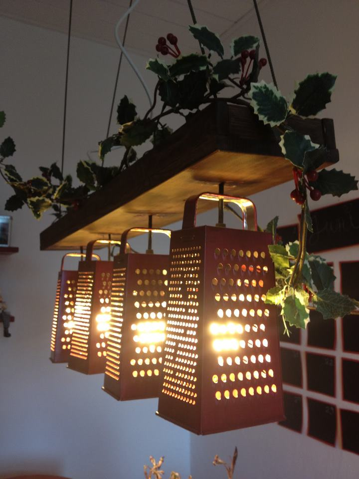 Recycled grater lamp