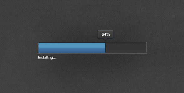 adobe style progress bar1 50 Inspiring Progress Bar Designs