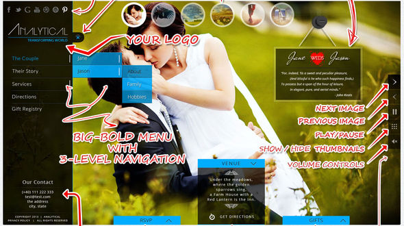 ba1b8335c9c5b0d1fe662f90d27c8b941 Top 15 Premium Wordpress Themes for a Wedding