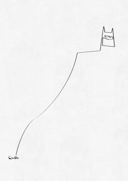 batman Minimal One Line Prints by Quibe