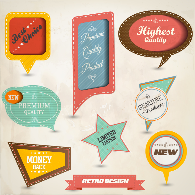 beautiful label design 31 45 Free Retro and Vintage Design Resources