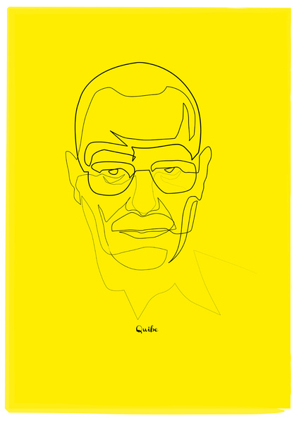 breaking bad heisenberg Minimal One Line Prints by Quibe