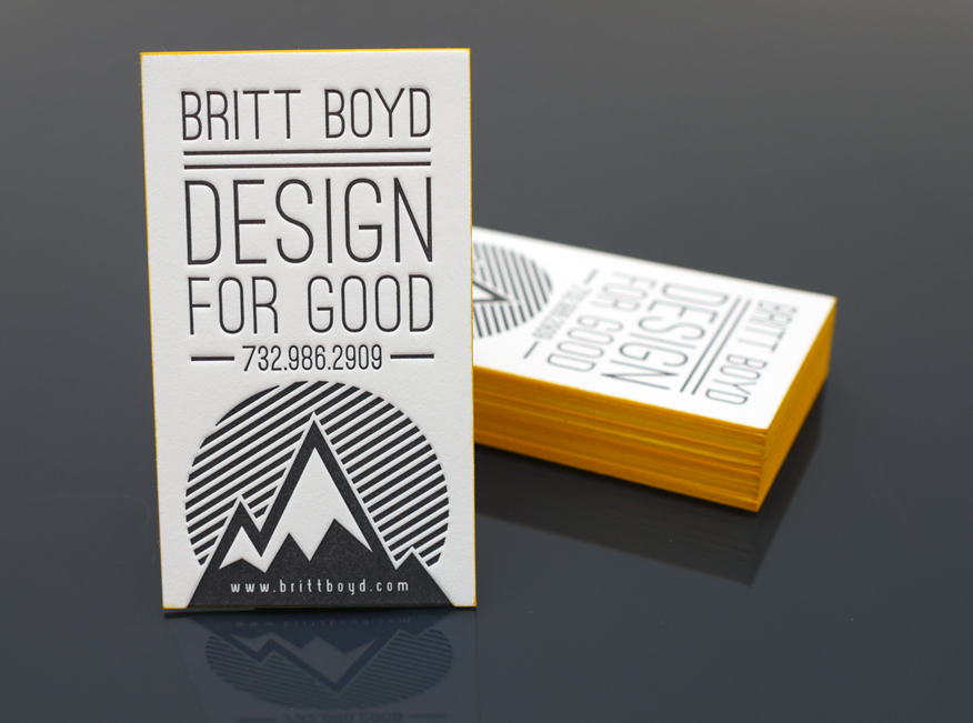 britt boyd1 33 Classy Thick Edge Business Cards