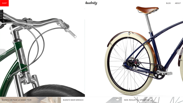 budnitz bicycles1 35 Nice Examples of Flat Web Design