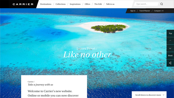 carrier1 35 Nice Examples of Flat Web Design