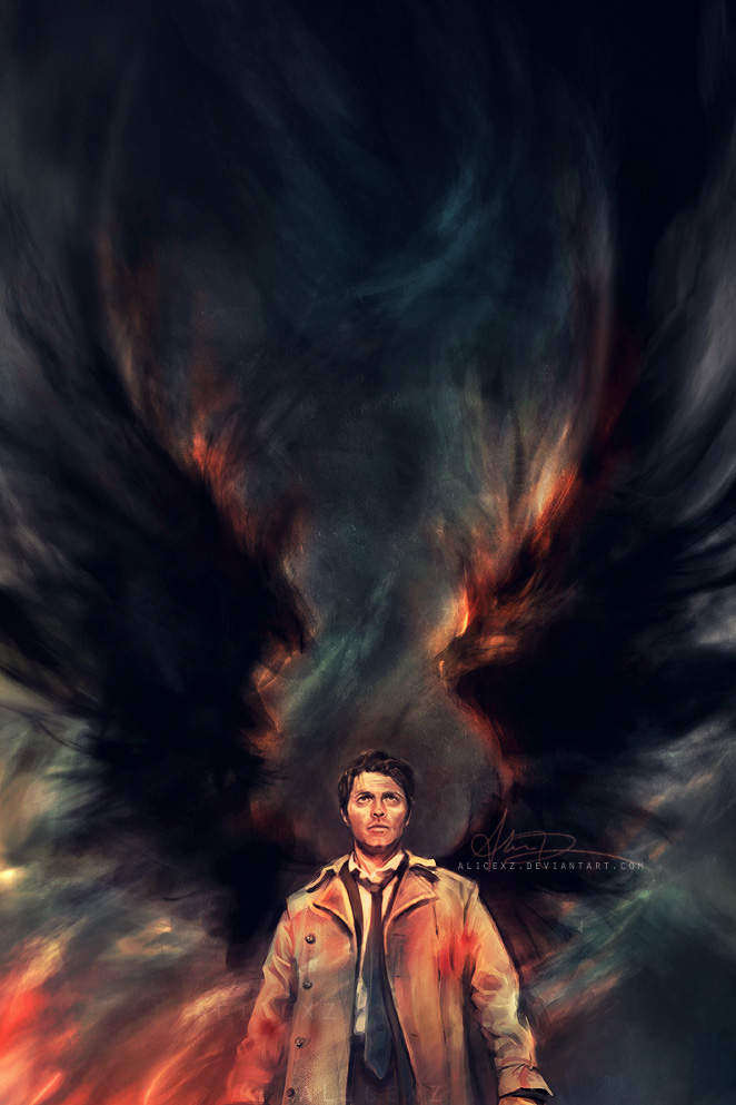 castiel Beautifully Executed Illustrations by Alice X. Zhang