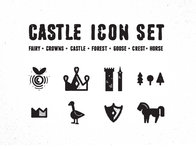 castle icons preview21 45 Free Retro and Vintage Design Resources