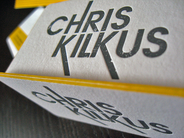 chris kilkus1 33 Classy Thick Edge Business Cards