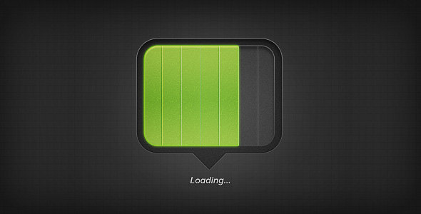 chubby loading bar user interface element1 50 Inspiring Progress Bar Designs