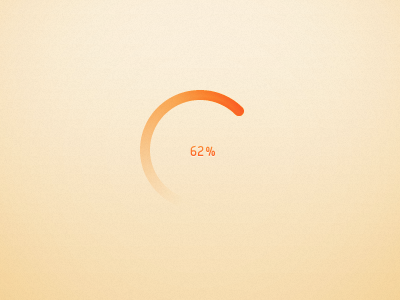Circular progress bar by Arnaud Thuillier Follow